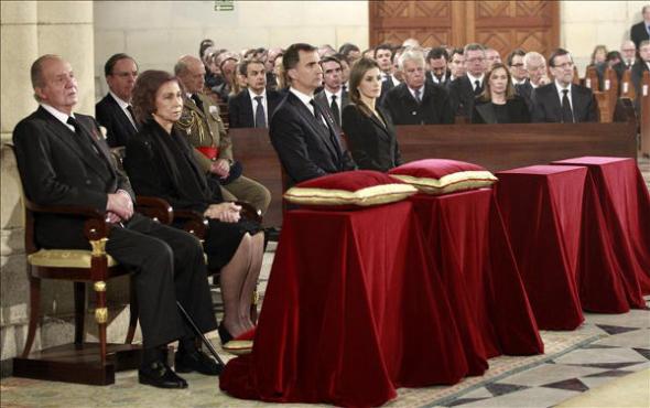 autoridades funeral Estado Adolfo Suárez 2014