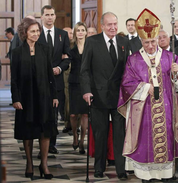 Rouco rey funeral Adolfo Suarez 2014