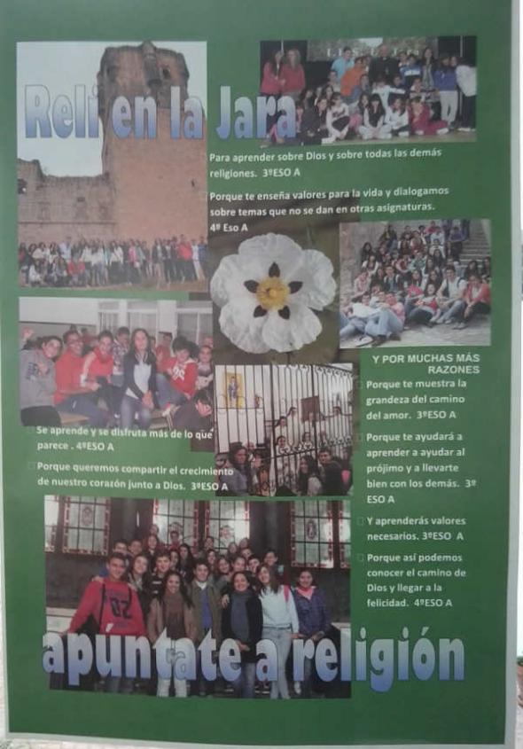 Cartel Proselitismo Asignatura religión IES Villanueva 2014