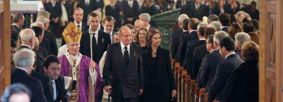 Rouco y reyes funeral Adolfos Suarez 2014