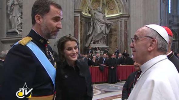 Bergoglio y príncipes 2013