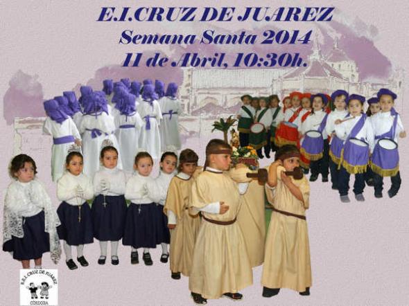 cartel procesion CEIP Cruz de Juarez