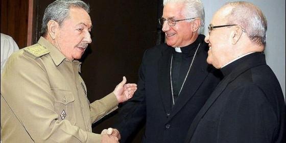 Castro y cardenal Ortega Cuba