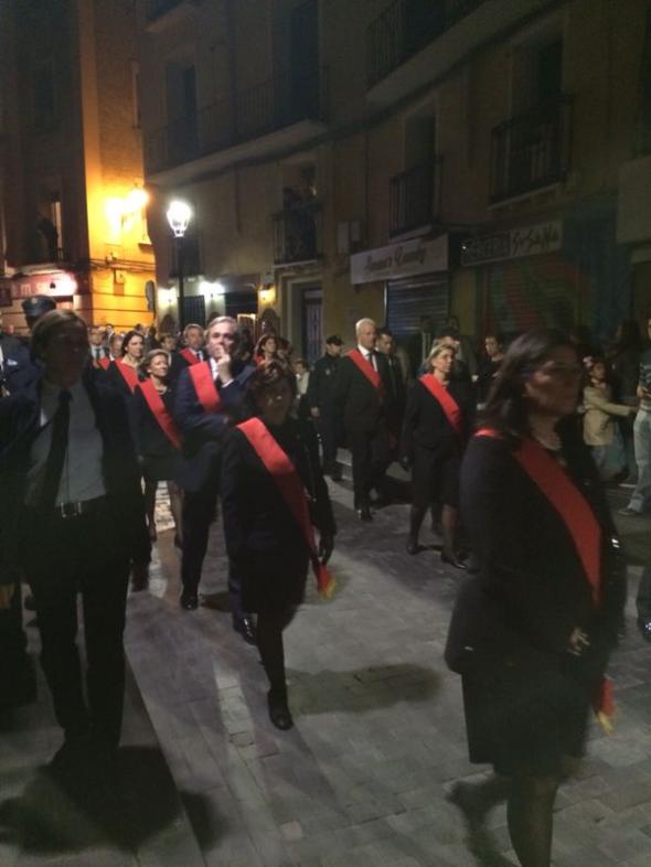 Alcalde Zaragoza procesión 2014