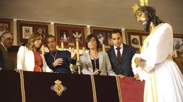 Susana Díaz cofradía El Cautivo Málaga 2014