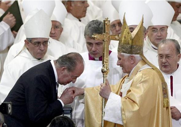 Ratzinger y Juan Carlos I