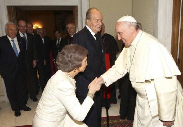 reyes con Bergoglio audiencia 2014
