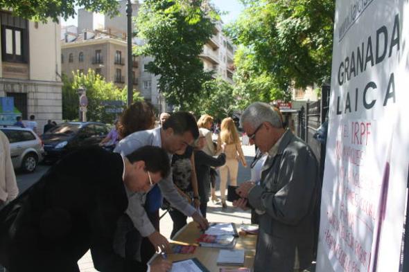 Maíllo y Morales con GRanada Laica