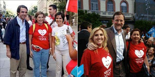Aznar y Rajoy con Hazte Oir