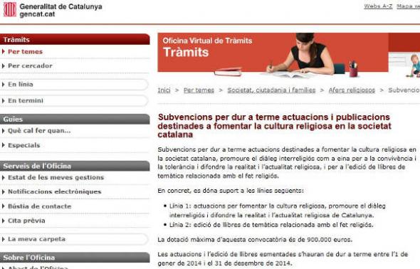 fomento religioso Cataluña