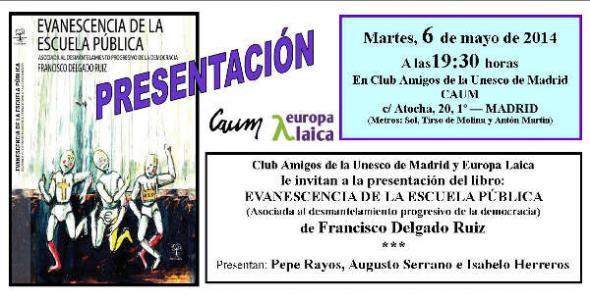 Tarjeta Evanescencia Madrid 2014