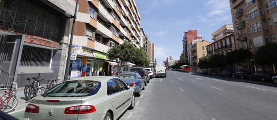 Avenida Puerto Valencia ruido parroquia