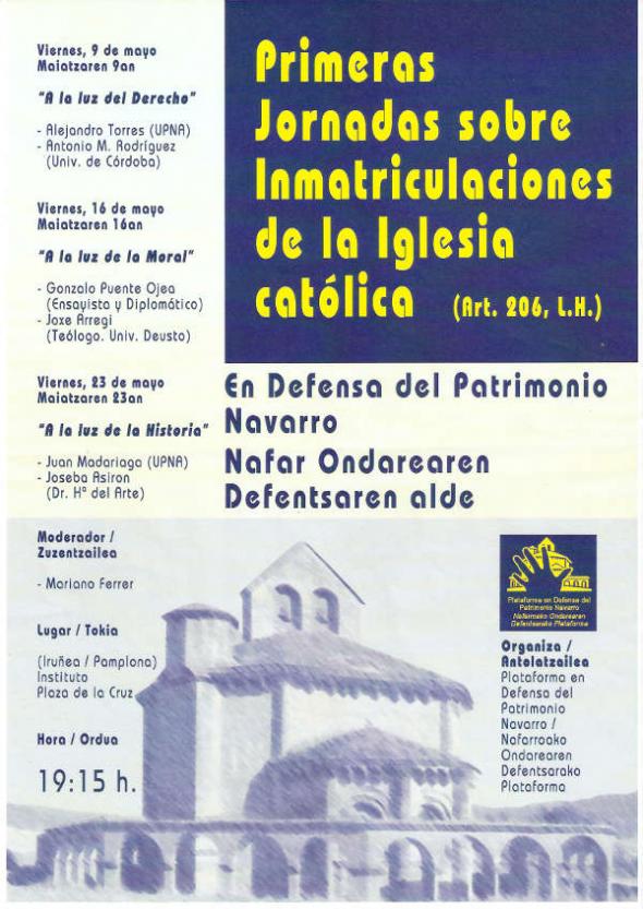 cartel inmatriculaciones Navarra 2014