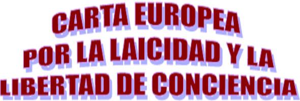 Carta europea laicidad 2014