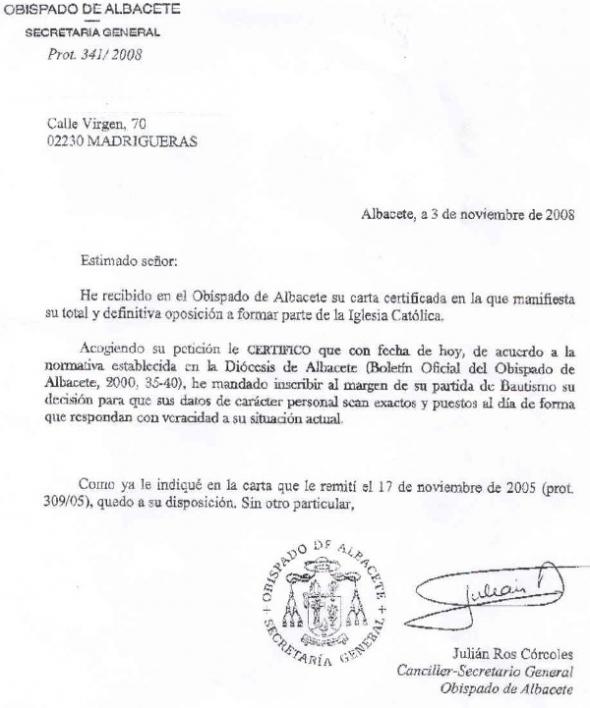 apostasia Albacete 2008