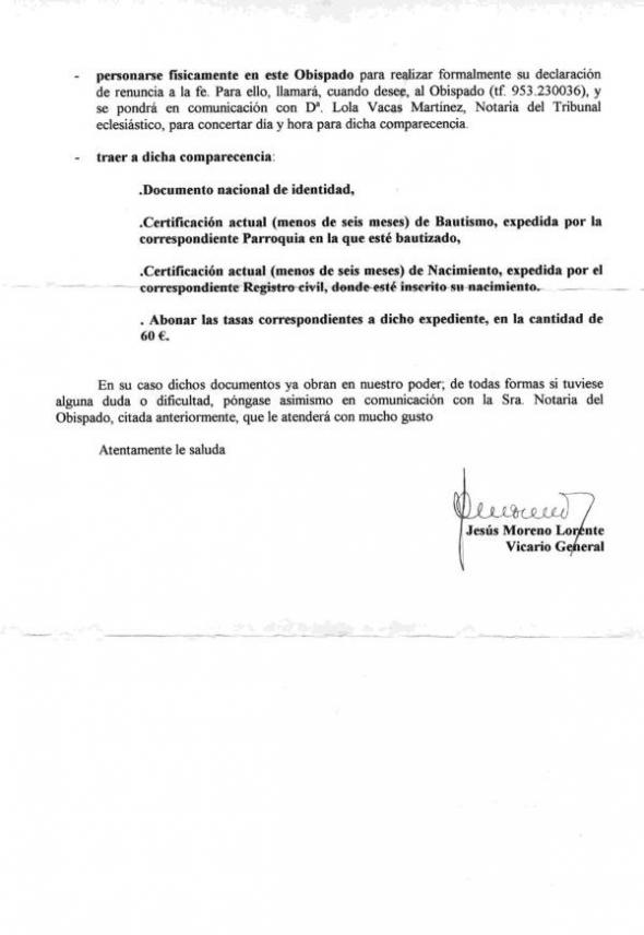 apostasía Jaén 2005