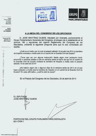 pregunta PSOE bandera luto semana santa 2014