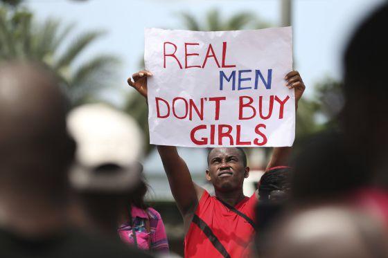 protesta Nigeria contra islamistas 2014