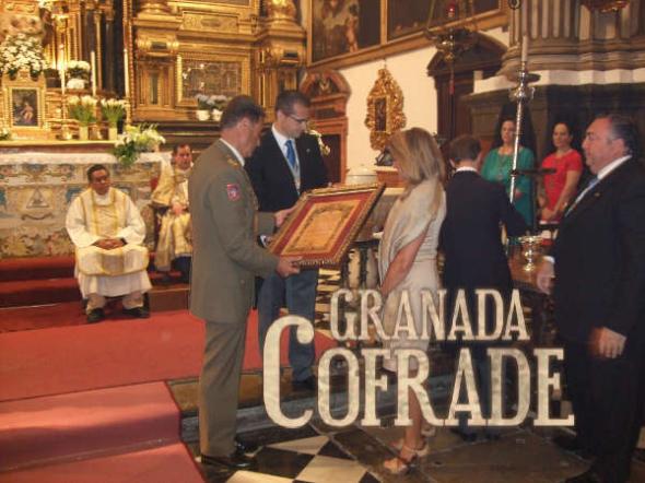 Virgen Remedios fajin teniente general MADOC Granada 2014