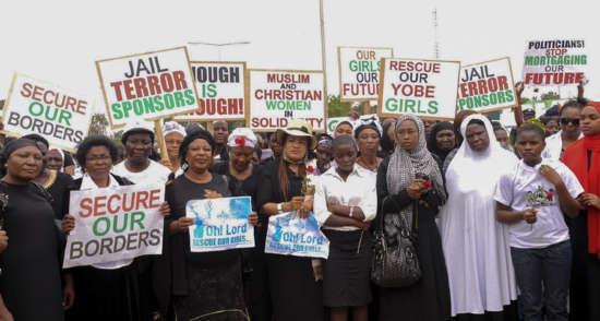 Protesta escolares secuestradas Nigeria 2014