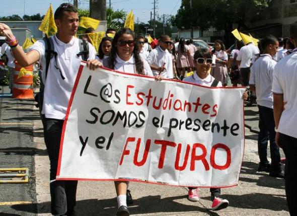 protesta estudiantes Puerto Rico 2014