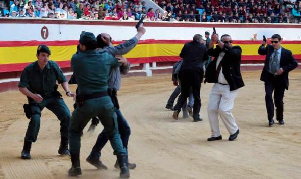 simulacro Guardia Civil escolares León 2014