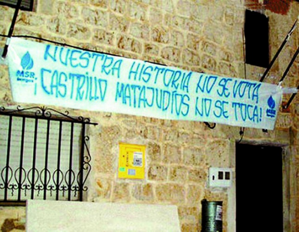 pancarta Castrillo Matajudios