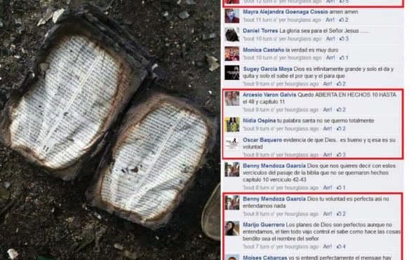 incendio biblia o niños Colombia 2014