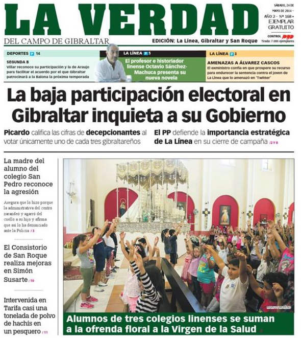 Ofrenda escolar La Linea 2014