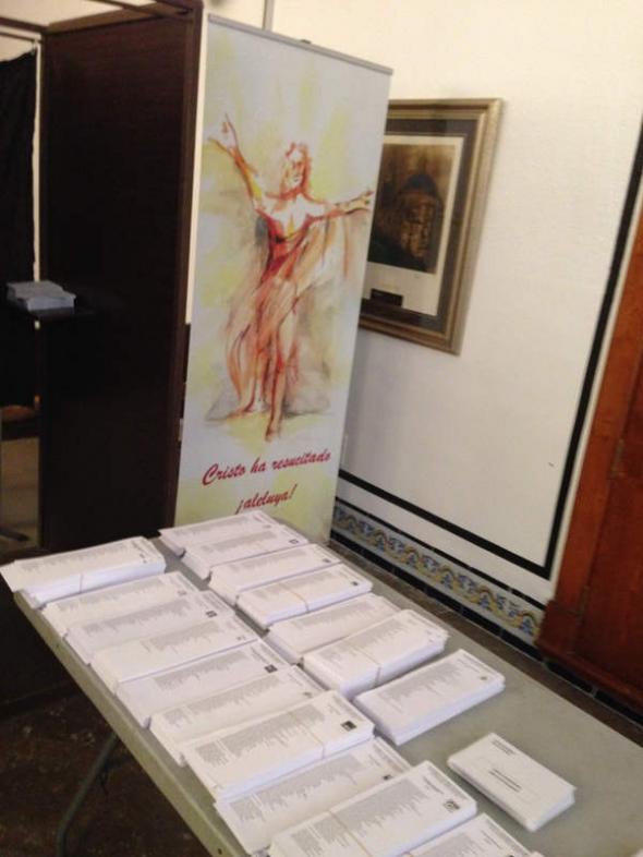 Mesa electoral  Valencia 2014