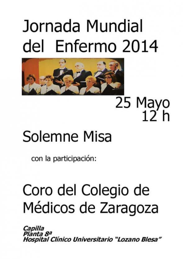 JORNADA MUNDIAL ENFERMO 2014 Zaragoza