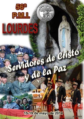 cartel marcha militar a Lourdes 2014
