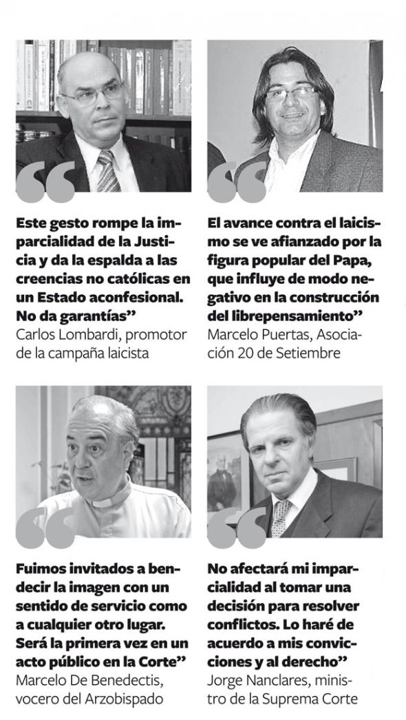 declaraciones cuadro en palacio Justicia Mendoza