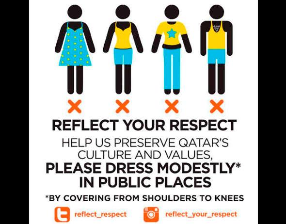 vestidos decorosos Qatar 2014