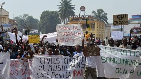 protesta musulaman Bangui 2014