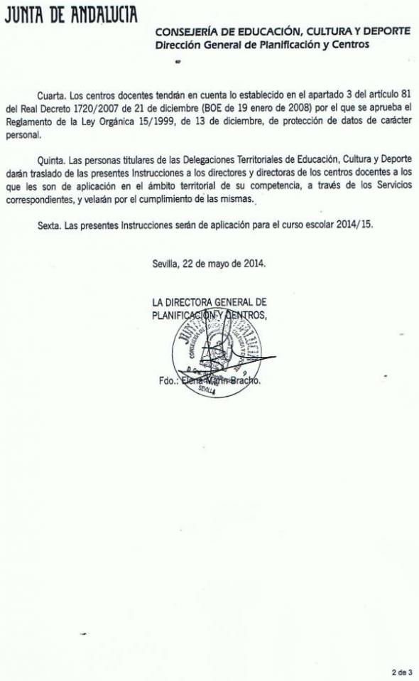 Instrucciones De La Junta De Andaluc A Sobre Matriculaci N