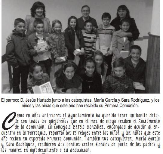 relojes  en comunión Güejar Sierra 2014