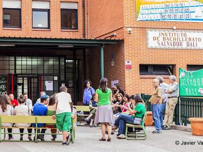 protesta escolarización Madrid 2014