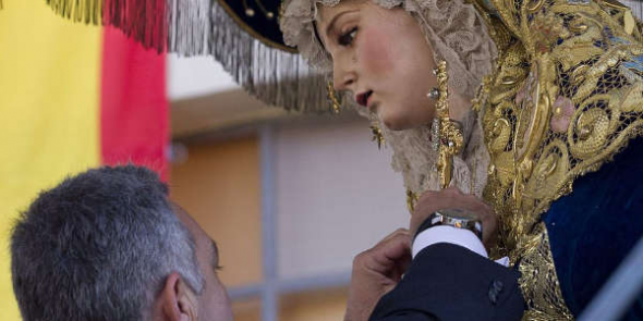 medalla policial Virgen Amor
