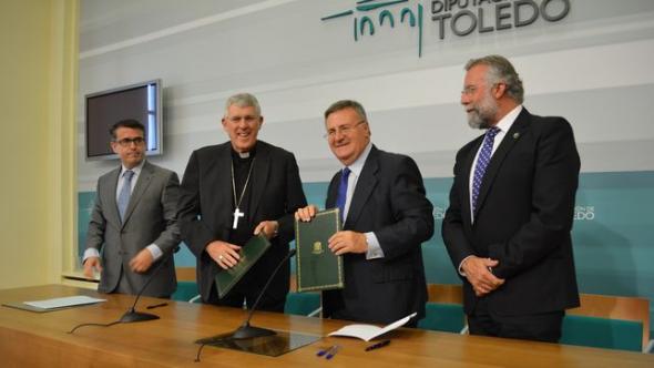 arzobispo y presidente Diputación Toledo 2014