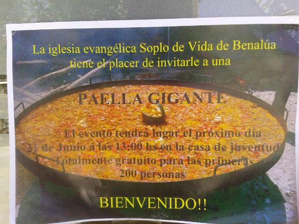 Paella iglesia evangélica Benalúa 2014