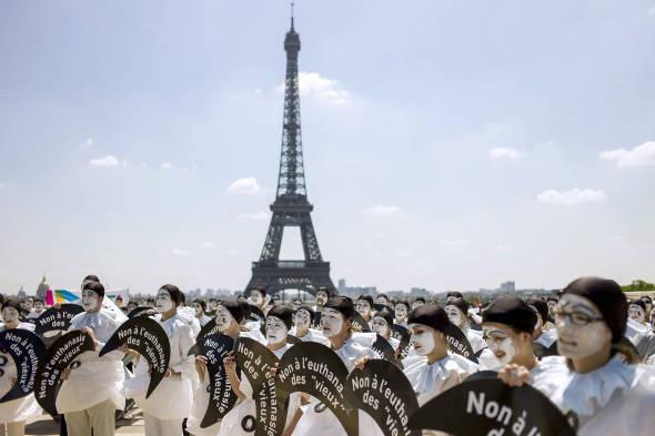 protesta contra eutanasia París 2014