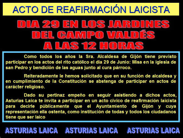 Bendición Aguas Asturias Laica 2014