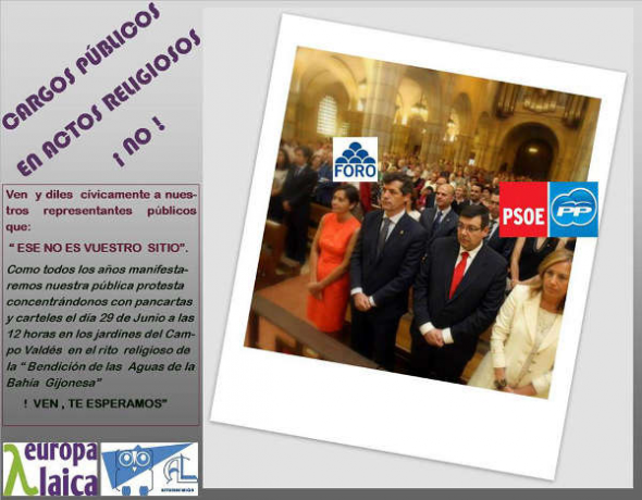 Bendición Aguas Asturias Laica 2014 concejales
