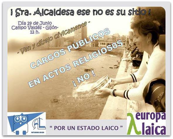 Bendición Aguas Asturias Laica 2014 Alcaldesa