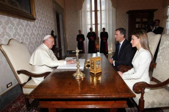 Felipe VI con Bergoglio 2014