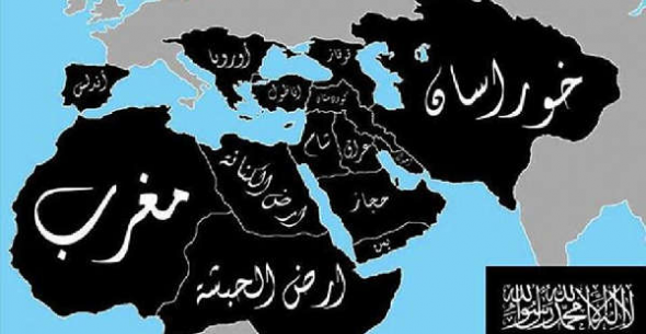 Mapa califato ISIS