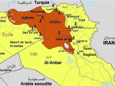 Territorio ocupado Califato 2014