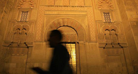 Mezquita Córdoba fachada nocturna