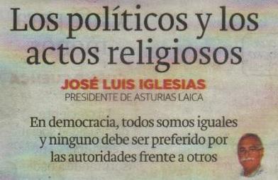 politicos y actos religiosos